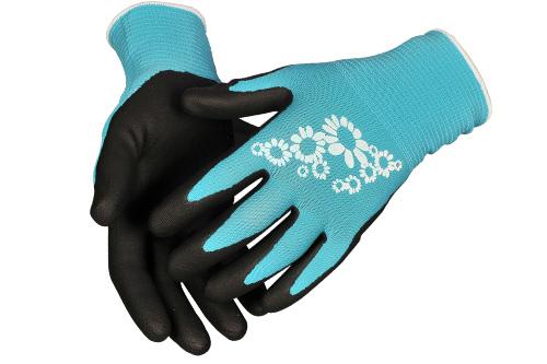 Handskar trädgård blå