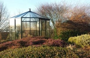 Cardinal rund glaspaviljong litet växthus